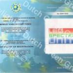 Europese certificering Led spectra Unit 1